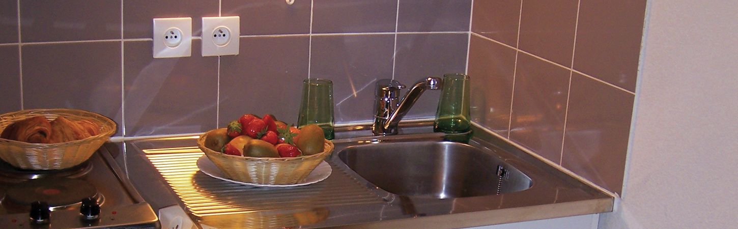 equipped kitchen in Palladium residence in Montreuil near Paris